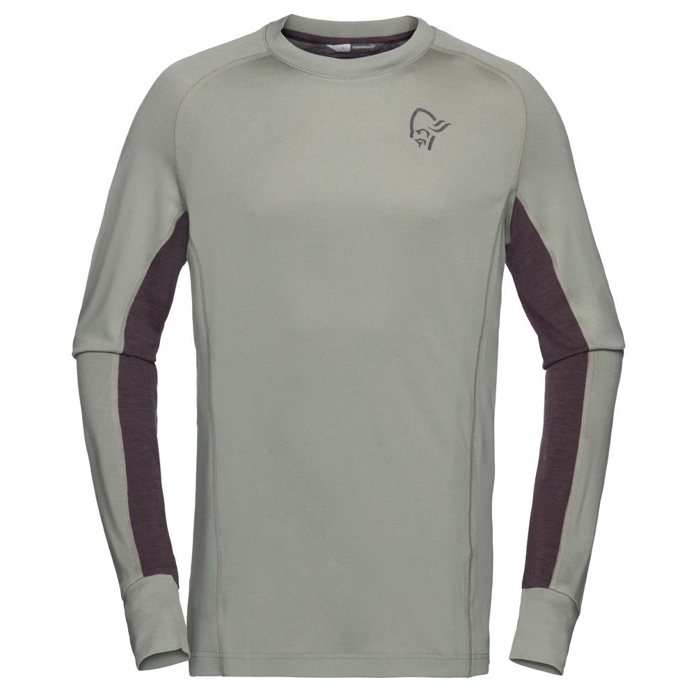 ノローナ(NORRONA)フィヨーロパワーウールロングスリーブ(fjørå Powerwool Long sleeve)カラー:Castor Grey