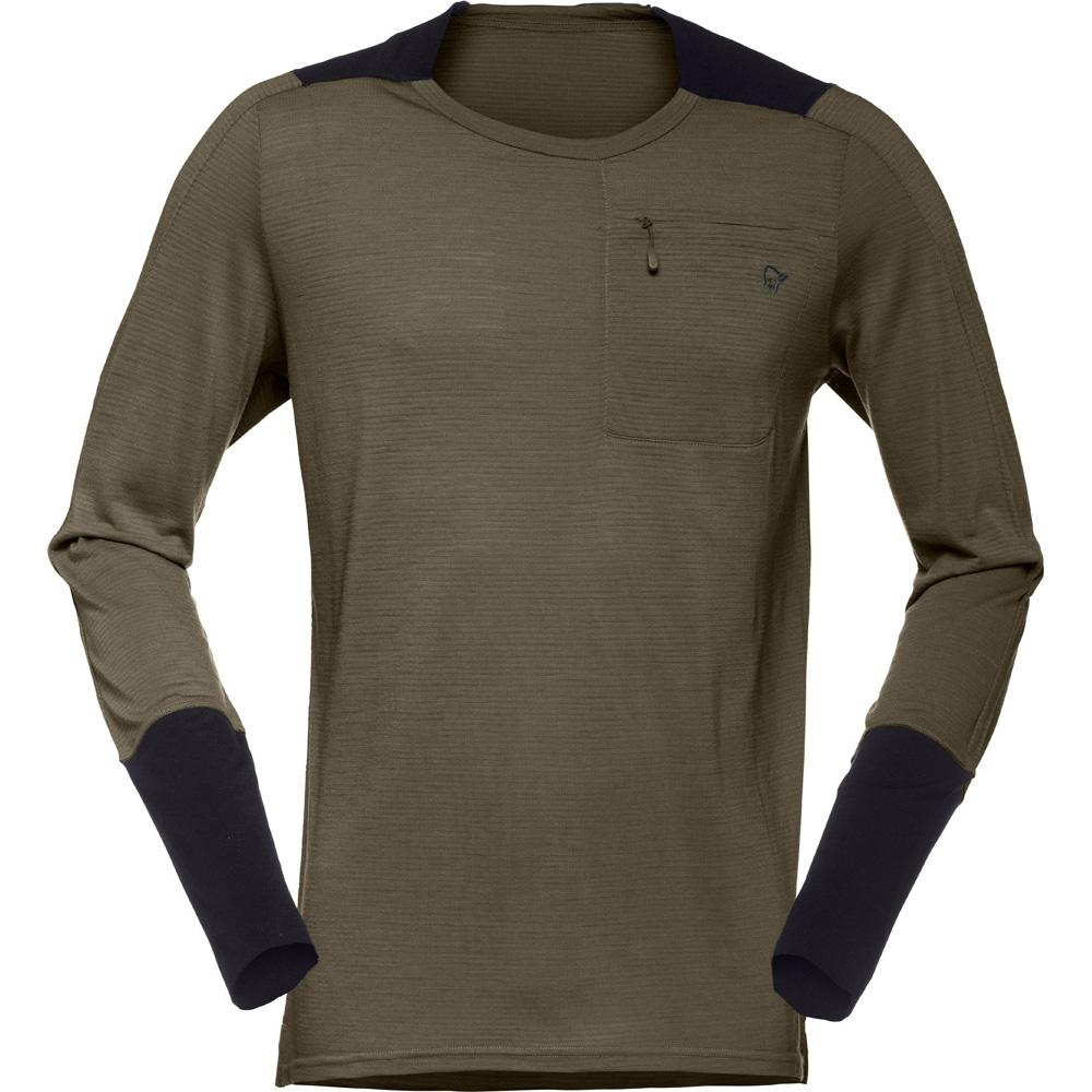 ノローナ(NORRONA)シーボットンウールイコライザーロングスリーブ(skibotn wool equaliser equaliser Long Sleeve)カラー:Dark wool Long Olive, ShoeLike:1281fee3 --- officewill.xsrv.jp