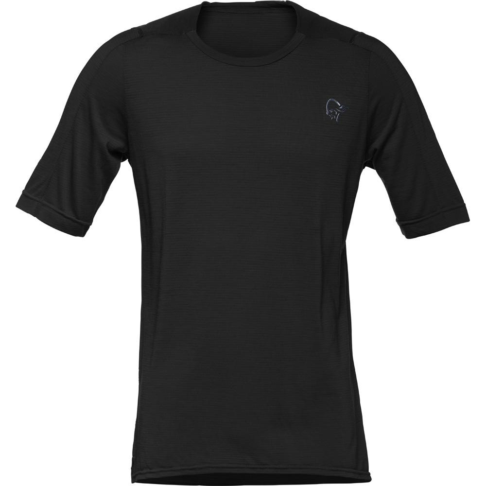 ノローナ(NORRONA)シーボットンウールイコライザーTシャツ(skibotn wool equaliser T-shirt )カラー:Caviar