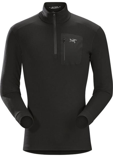 アークテリクス(ARC'TERYX)サトロ AR ジップネック シャツ LS(satoro-ar-zip-neck-shirt-ls)カラー:Black