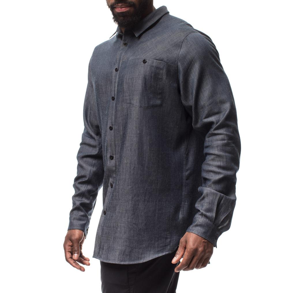 フーディニ(HOUDINI)アウト&アバウトシャツ(M's Out And About Shirt)カラー:Blue Illusion