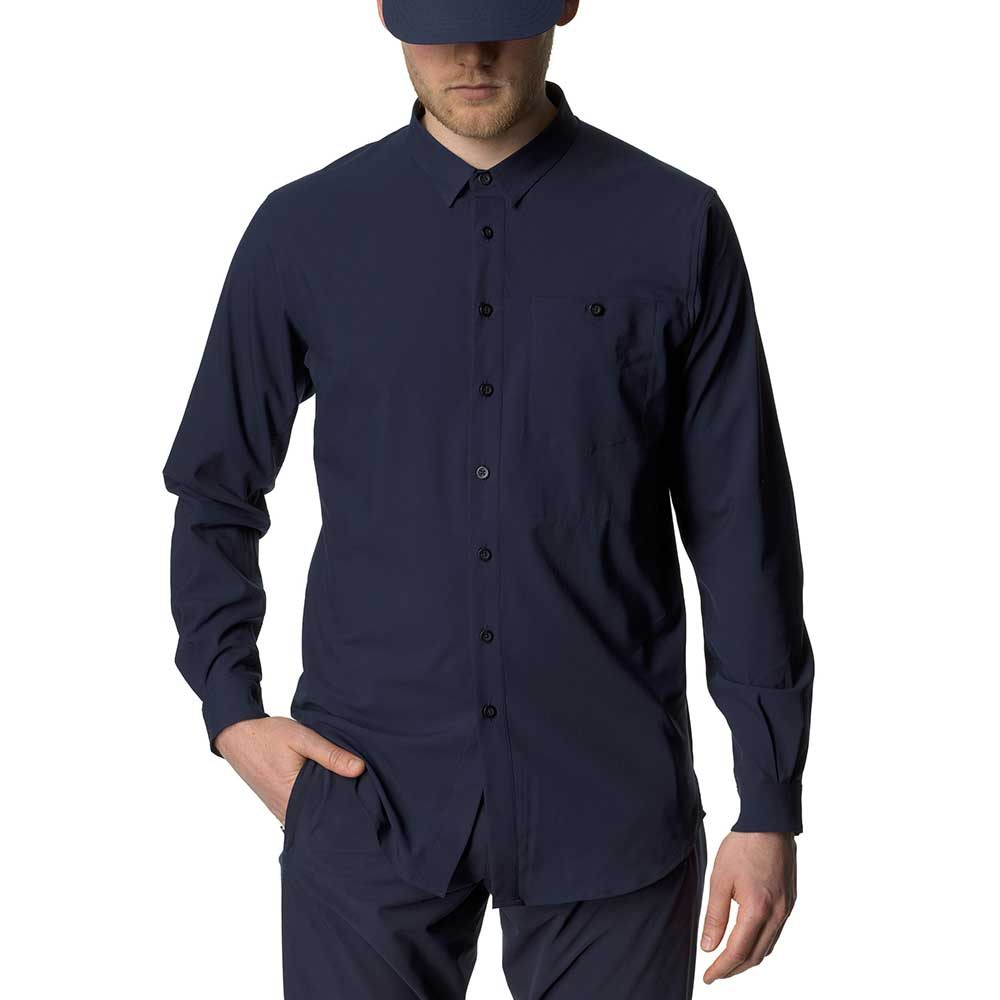 フーディニ(HOUDINI)ロングスリーブ シャツ(Longsleve Shirt)カラー:Blue Illusion
