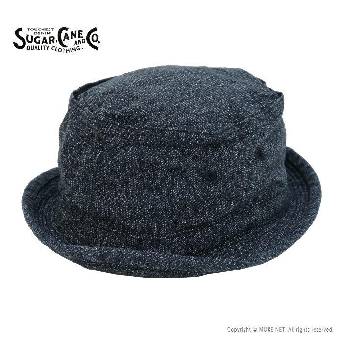 クラシカルな杢調ボディーのポークパイハット シュガーケーン SUGAR CANE 送料無料 11S 公式ショップ SC02627 メンズ ブラックコバートポークパイハット 日本製 21S-3 帽子 入荷予定