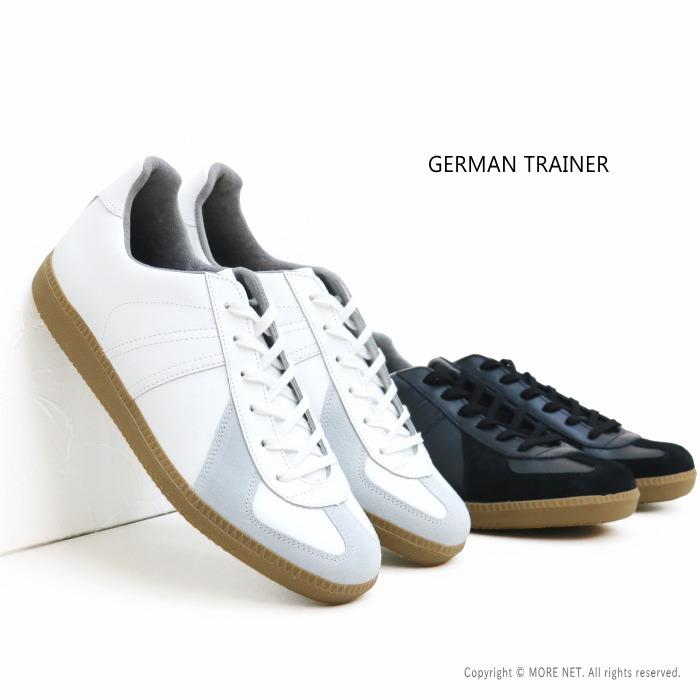 クーポンで10%OFF(7/25限定) / ジャーマントレーナー GERMAN TRAINER レザースニーカー 1183 メンズ レディース 靴 本革 23~28.5cm