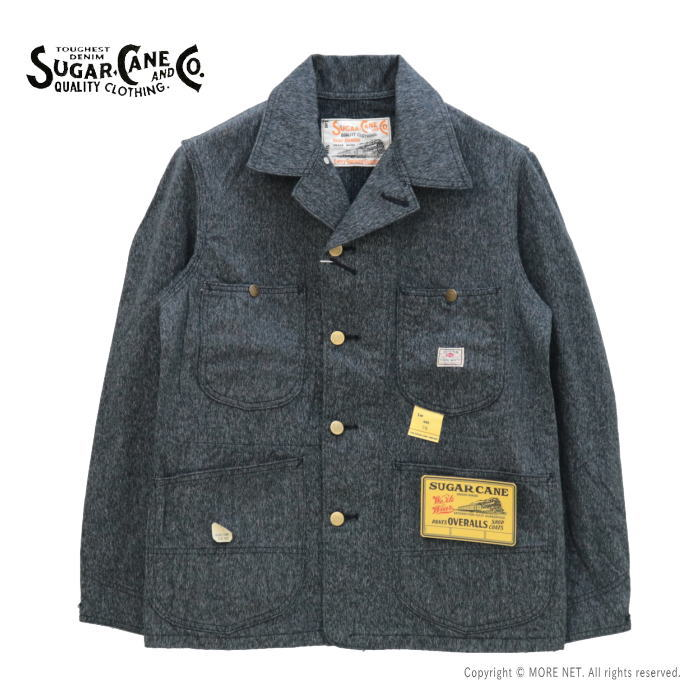 シュガーケーン SUGAR CANE 9ozブラックコバートワークコート SC14373 メンズ 日本製 ジャケット