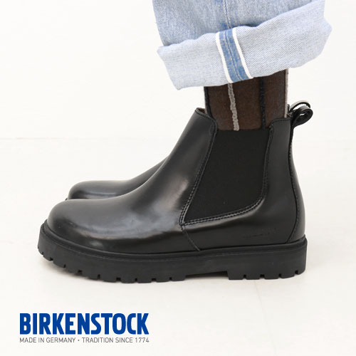298d547ee108 ビルケンシュトック BIRKENSTOCK studio Ron lady's narrow fitting STALON / 1010771  side Gore boots Chelsea boot ...