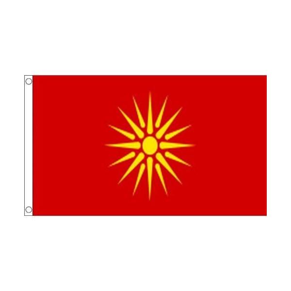 往復送料無料 ゆうメール 送料無料 旧国旗 マケドニア共和国1991-1995年 150cm フラッグ 受注生産 × 特大 90cm 格安店