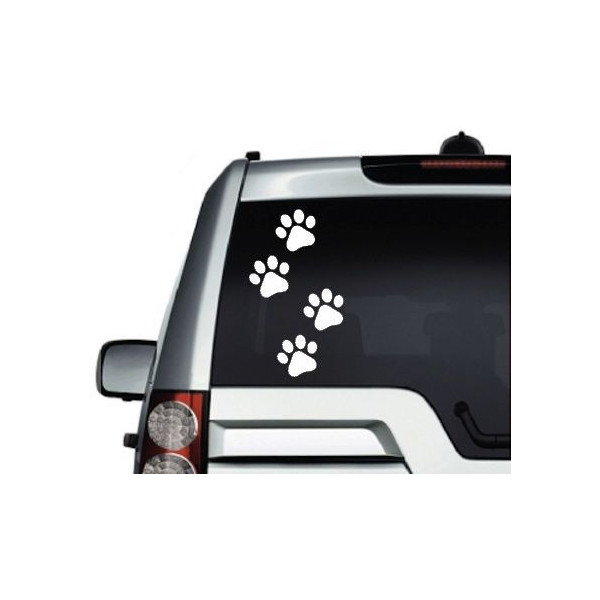 ゆうメール 送料無料 犬 ドッグ 無料サンプルOK ステッカー 足跡 受注生産 色カスタム可 商舗