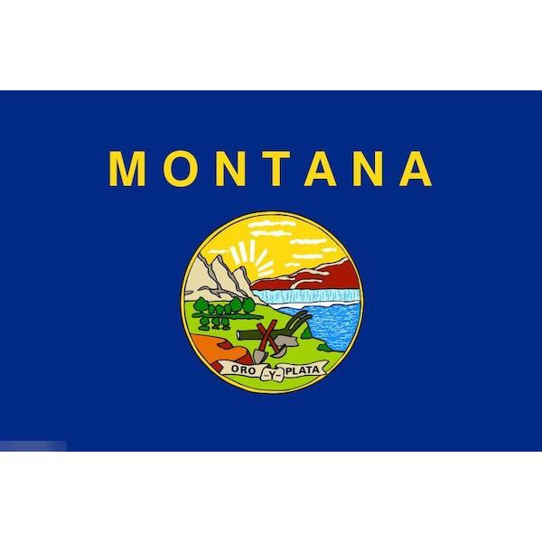 ゆうメール 直営限定アウトレット 送料無料 国旗 モンタナ州 州旗 アメリカ 米国 輸入 フラッグ × 受注生産 90cm 150cm 特大