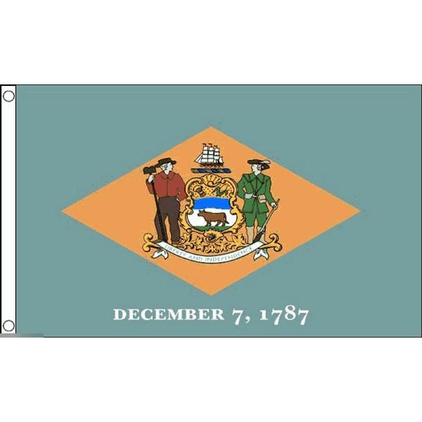 ゆうメール 送料無料 国旗 デラウェア州 州旗 アメリカ 米国 × フラッグ 割引 受注生産 90cm 特大 2020秋冬新作 150cm