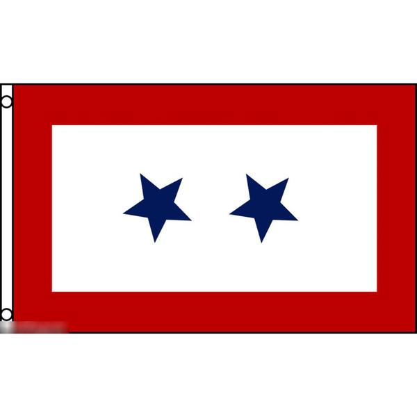 ゆうメール 送料無料 国旗 ブルー スター 2つ星 150cm 受注生産 × 特大 キャンペーンもお見逃しなく 90cm フラッグ 内祝い