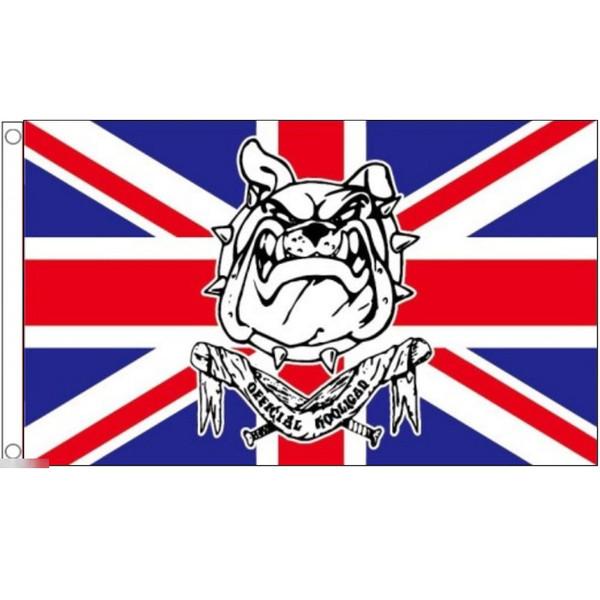ゆうメール 送料無料 国旗 卸直営 イギリス 英国 ユニオンジャック ブルドッグ フラッグ NEW 90cm 受注生産 × 150cm 特大