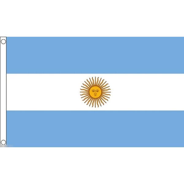 ブランド激安セール会場 ゆうメール 送料無料 国旗 アルゼンチン共和国 150cm フラッグ 90cm × 特大 受注生産 卓出