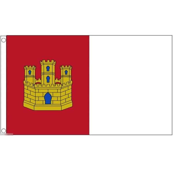 ゆうメール 送料無料 国旗 カスティーリャ ラ マンチャ州 スペイン 特大 フラッグ 90cm 150cm 新品 送料無料 × 国産品 受注生産