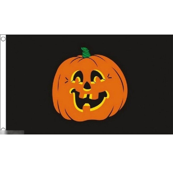 ゆうメール 送料無料 国旗 ハロウィン ハロウィーン カボチャ かぼちゃ 南瓜 150cm フラッグ キュート 付与 受注生産 × 特大 90cm 店内限界値引き中&セルフラッピング無料
