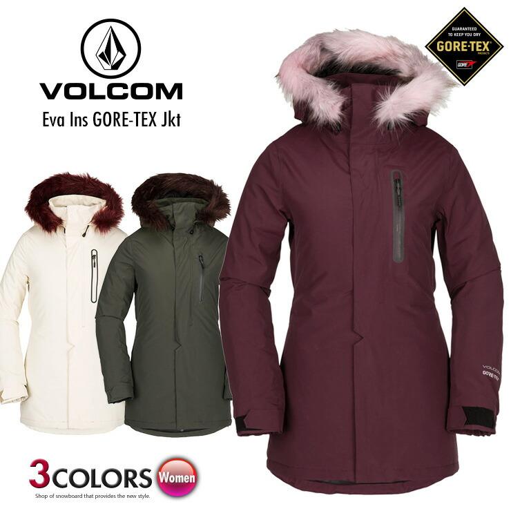 18-19 VOLCOM ボルコム Eva Ins GORE-TEX Jkt エヴァ インシュレーテッド ゴアテックスジャケット 18/19 スノーボード ウェア スノーウェア スキーウェア【モアスノー】