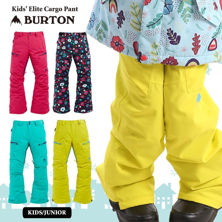バートン キッズ ウェア スノーボード BURTON 20-21 BURTON バートン キッズ ウェア Kids' Elite Cargo Pant パンツ スノーウェア スノーボード スキー 子供 ガールズ【モアスノー】