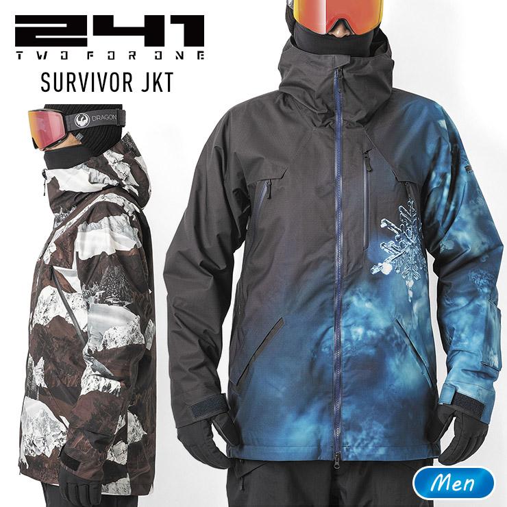 大柄デザインのジャケット 241 トゥーフォーワン トラスト サバイバージャケット SURVIVOR JKT メンズ モアスノー MB1003S スノボー 期間限定送料無料 ウェア スキー スノーボード