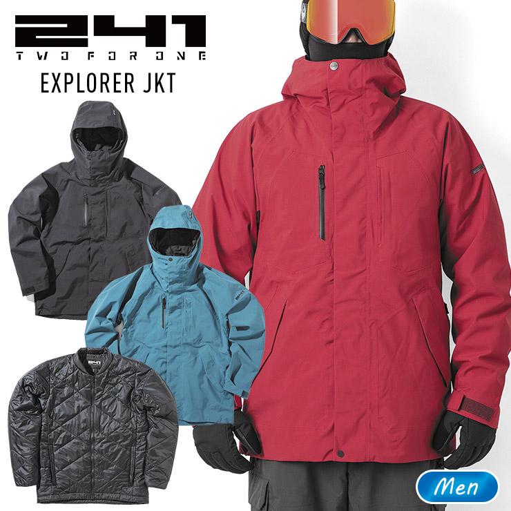プリマロフト採用の3in1ジャケット 241 トゥーフォーワン エクスプロラージャケット EXPLORER JKT 5☆好評 メンズ 直営限定アウトレット スノーボード ウェア モアスノー MB1004 スノボー スキー