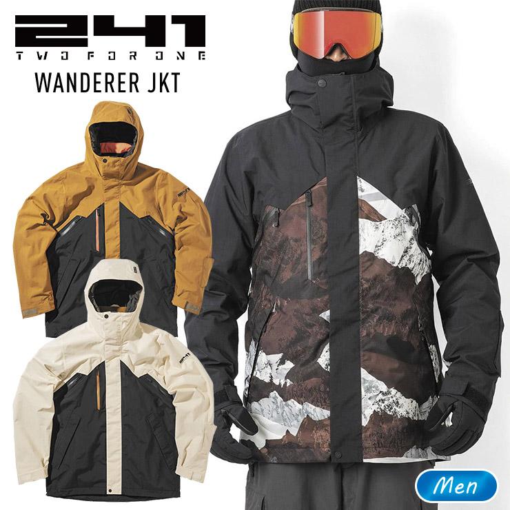 GORE-TEX2層構造のジャケット 241 最新アイテム トゥーフォーワン ワンダラージャケット WANDERER JK メンズ スノーボード 今季も再入荷 スノボー モアスノー MB1005 スキー ウェア