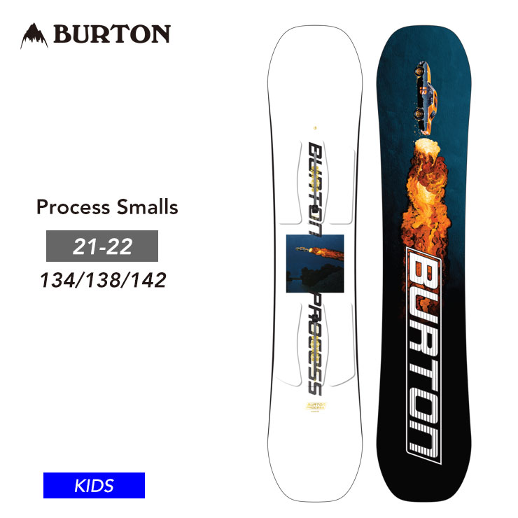 バートン キッズ 板 スノーボード BURTON 早期予約 21-22 BURTON バートン キッズ 板 Process Smalls プロセス スモール 子供 ジュニア スノーボード 【モアスノー】