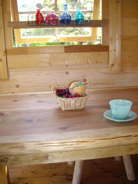 森のダイニングテーブル 無垢130cm 国産 杉 一枚板 2~3枚接ぎ 天然木 一枚板テーブル (2枚接ぎ)