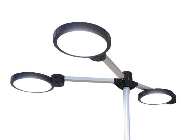 ジャストコーポレーション オフィス用タスク・アンビエントLED照明 BO-PA Quattro(クアトロ) Y型タイプ(3人用) BO-8803