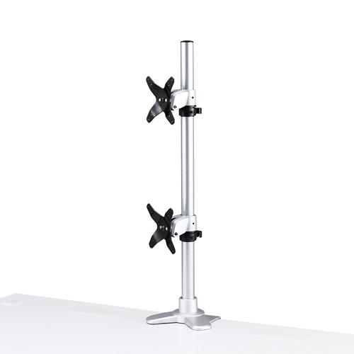 サンワサプライ 水平垂直液晶モニターアーム(机用・水平垂直・上下2面) CR-LA1009N