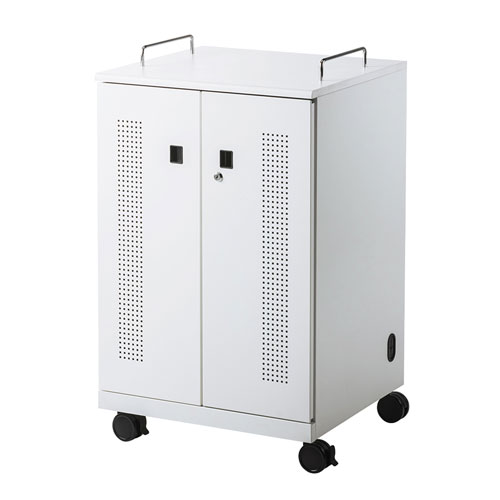サンワサプライ ノートパソコン収納キャビネット(12台収納) CAI-CAB104W