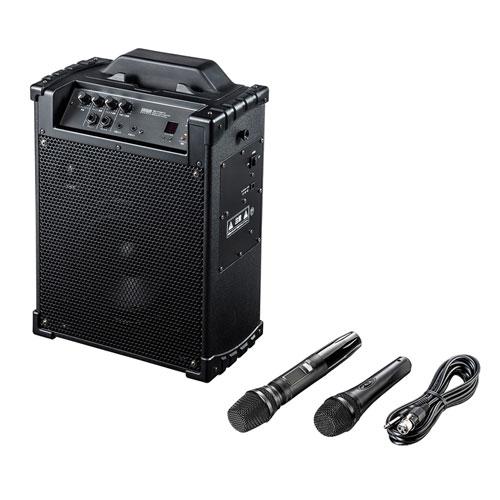 サンワサプライ ワイヤレスマイク付き拡声器スピーカー MM-SPAMP10