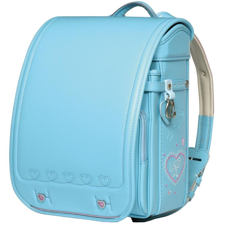 國鞄(コクホー) ランドセル 姫娘 キュービー型 サックス HI72756-43