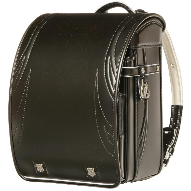 國鞄(コクホー) ランドセル ノーベルキッズ キュービー型 ブラック/ブラック 87866-01