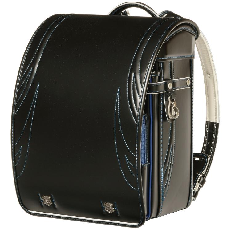 國鞄(コクホー) ランドセル ノーベルキッズ キュービー型 ブラック/ブルー 87866-31