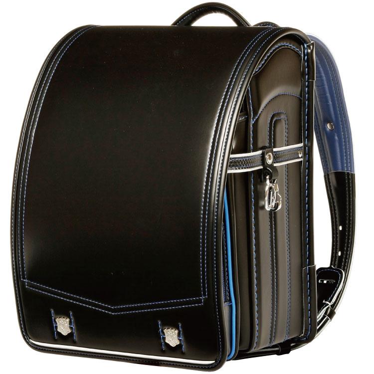 國鞄(コクホー) ランドセル プラチナカラーキッズ ブラック/ブルー PB6655-31