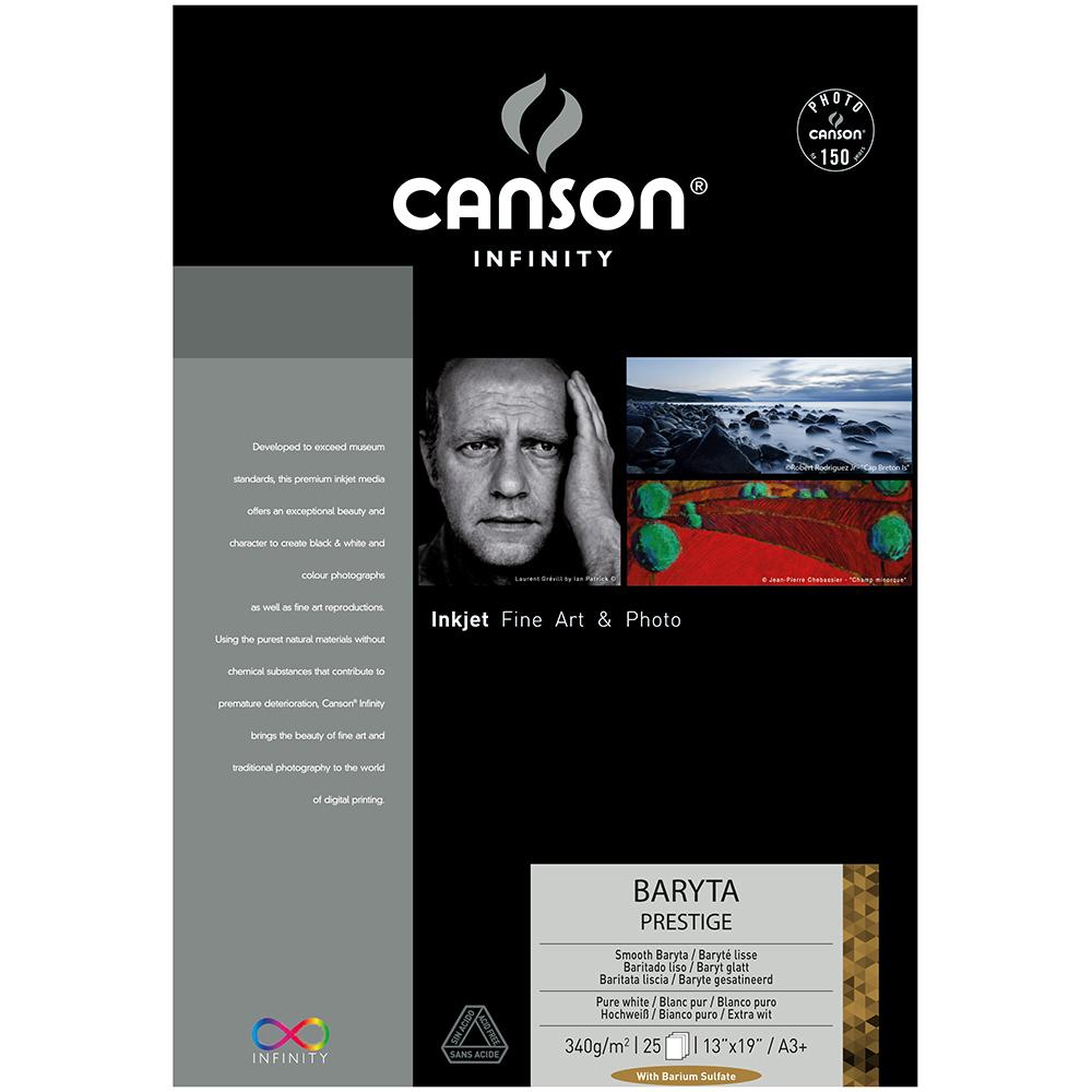 キャンソン インフィニティ フォト系インクジェット用紙 バライタ・プレステージ A3ノビ 25枚入
