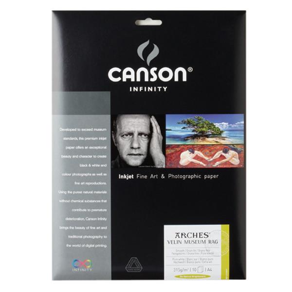 キャンソン インフィニティ 版画用紙ベース系インクジェット用紙 ベラン・ミュージアム・ラグ A4 25枚入