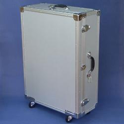 マスミ鞄嚢 アルミトランクケース キャスター付 内寸765×555×蓋60/本体186mm シルバー SC-78