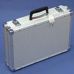 マスミ鞄嚢 アルミトランクケース 小型アタッシュケース 内寸408×288×蓋33/本体54mm シルバー シルバー SN-42