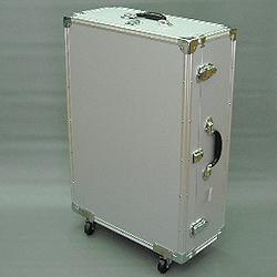 マスミ鞄嚢 アルミトランクケース キャスター付 内寸695×486×蓋57/本体164mm シルバー EC-72