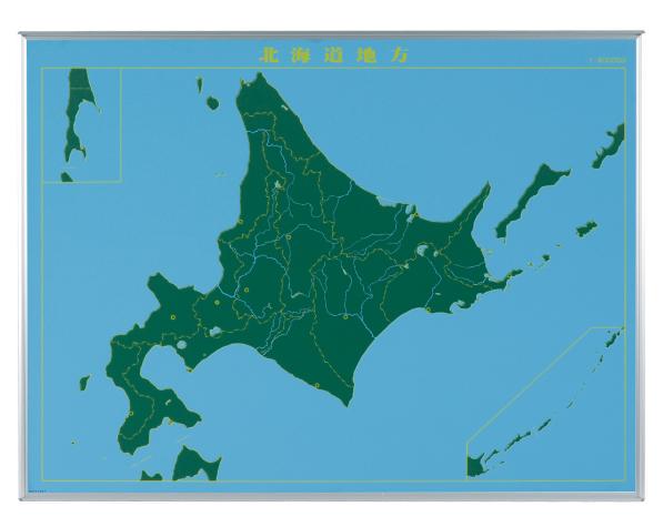 馬印 地図黒板 北海道地方(ヨコ) LM-S12