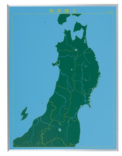 馬印 地図黒板 東北地方(タテ) LM-S13