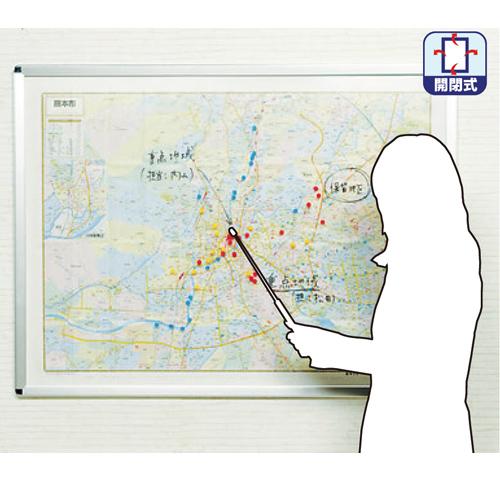 地域説明用パネル W1200×H900mm QM-TS34