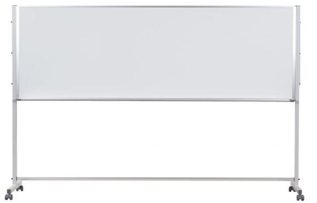 馬印 Pシリーズ 片面脚付ホワイトボード 無地 ニッケルホーロー PTH309