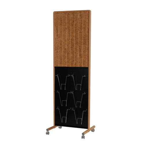 馬印 木目調枠アドボード 片面ピタコルク3×掲示板/有孔ボード UY851B2EM