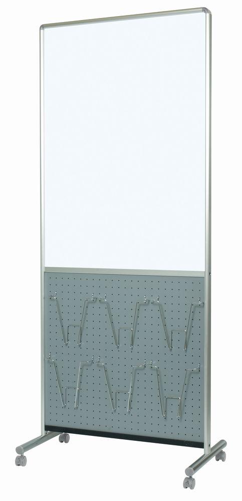 馬印 アドボード 片面スチールホワイトボード/有孔ボード グレー UY851B1GR