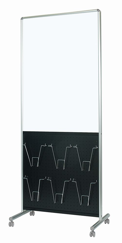 馬印 アドボード 片面スチールホワイトボード/有孔ボード ブラック UY851B1K
