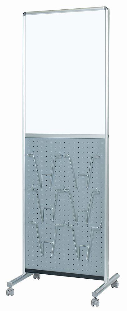 馬印 アドボード 片面スチールホワイトボード/有孔ボード グレー UY851B2GR