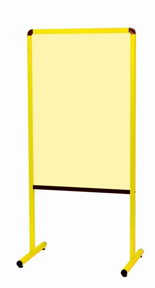 馬印 カラフル案内板 両面スチールカラーボード イエロー アジャスター付 YAE600YG