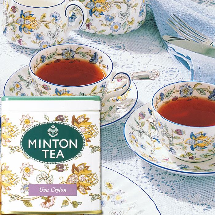 イギリスの伝統と精神を受け継いだ 本格的な英国紅茶です ミントンティー ウバセイロン 80g缶入り 伝統を受け継いだ本格的な英国紅茶 MINTON TEA ミントン 森半 紅茶 茶 お茶 ティー 茶葉 プレゼント 缶 ギフト 英国 イギリス 与え 出群 リーフティー プチギフト 水だし 水出し紅茶 バレンタイン 美味しいお茶 水出し