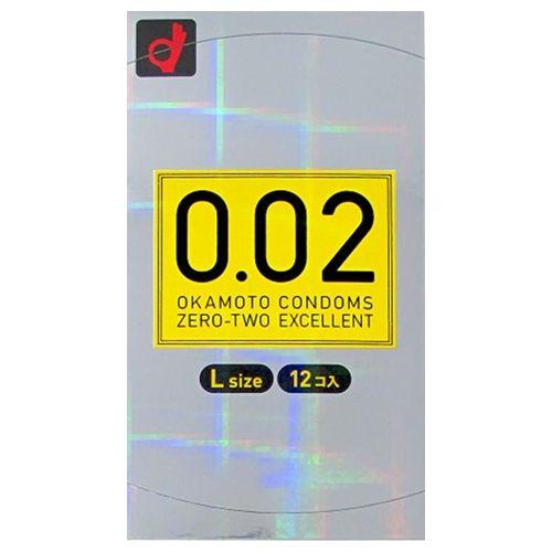 【送料無料】【ケース販売】うすさ均一0.02EX Lサイズ(12個入)【コンドーム】〔ケース入数 144〕
